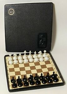 RARE Vintage Soviet Chess ROAD MAGNETIC USSR Full set. 4.3x4.3 inch board