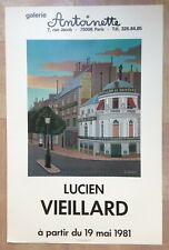 LUCIEN VIEILLARD AFFICHE ORIGINALE EXPO 1981 PARIS orfevrerie CHRISTOFLE