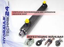Hydraulikzylinder doppeltwirkend 50/30 versch. Varianten mit u. ohne Befestigung