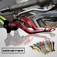 5D Short Adjustable Motorcycle Brake Clutch Levers for DUCATI 796 MONSTER 11-14
