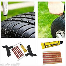 8in1 Car Motorcycle Wheel Tyre Puncture Tubeless Emergency Repair Strips DIY Kit