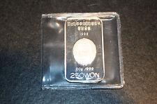 1998 Korea 250 won silver proof Millennium Rectangular Coin RARE