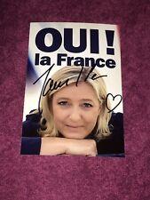 Photo Publicitaire Dédicacée Autograph Marine Le Pen