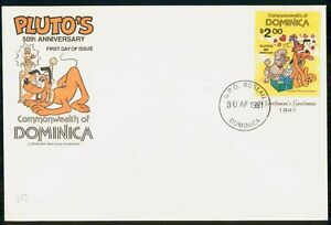 Mayfairstamps DOMINICA FDC 1981 COVER DISNEY PLUTO wwi81507