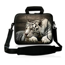 "13"" Tiger Laptop Shoulder Bag Case+Handle Fr 13.3"" Apple Macbook Pro,HP Folio 13"
