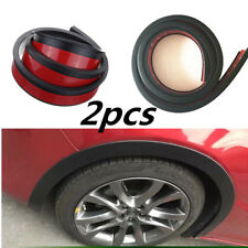 2pcs Black Rubber Auto Wheel Eyebrow Arch Trim Lips Strip Fender Flare Protector
