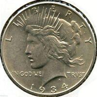 1934 Peace Silver Dollar - Philadelphia Mint - KP931