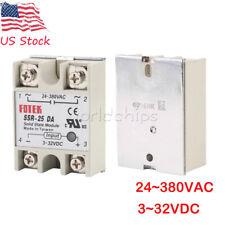 SSR-25DA 25A 250V Fotek Solid State Relay Module 3-32V DC Input 24-480V AC