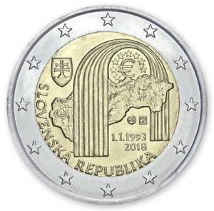 "Slovakia 2 euro coin 2018 ""25th Anniversary of the Slovak Republic"" UNC"