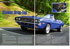 1971 DODGE CHALLENGER CONVERTIBLE MODIFIED 370/425-HP ~  NICE 6-PG ARTICLE / AD