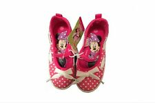 Toddler Girls Size 10 Mary Janes Disney Tennis Shoes Pink Minnie Mouse Slip Ons
