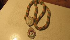 1 Antique IOOF Odd Fellows Braided Rope & Medals  No. 9