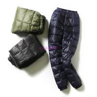 Men/Unisex Ultralight Duck Down Outdoor Winter Slim Fit Long Trousers Pants Puff
