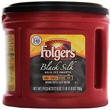 Folgers Black Silk Regular Coffee, Dark/Bold Ground 24.2 ounces, 4 Cans