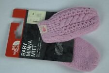 NWT! North Face Baby Minna Knit Mittens SAMPLES sz XS Lilac Pink winter snow