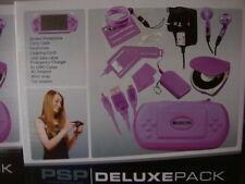 Paquete De Lujo PSP un montón de accesorios como fuente de alimentación y auriculares + más