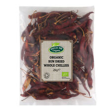 Organic Sun Dried Whole Chillies 2kg Certified Organic