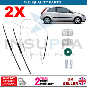 2X Front Electric Window Repair Kit Set front L&R For Ford Fiesta 2/3 Doors