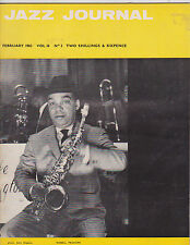 FEB 1963 JAZZ JOURNAL vintage music magazine RUSSELL PROCOPE