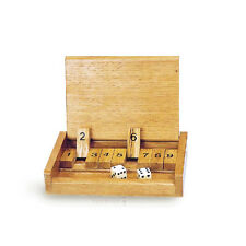 Shut The Box Wooden Pocket Size Dice Skill Board Game Toy Travel Version Toypost