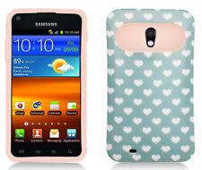 US Cellular Samsung Galaxy S II 2 TPU Candy HYBRID GLOW Green Hearts Dots Case