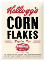Kelloggs Corn Flakes The Original Blechschild Schild Blech Tin Sign 30 x 40 cm