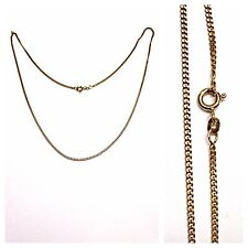 Solid Curb Chain Curb Chain Necklace 333 Gold Necklace Gold Chain 50 cm