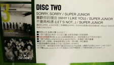 Super Junior Sorry, Sorry Why I Like You Let's Not Taiwan Promo CD (SJ)