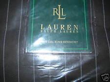 New Ralph Lauren Metropolitan Brown Pinstripe California King Bed Skirt