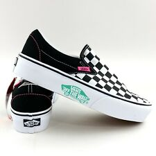 Vans Slip On Checkerboard Platform Women's Shoes Off The Wall Pink Detail