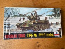 Maquette Esci Russian  Tank T34/76 1943 Modèl Neuf Jamais Ouverte New 1.72