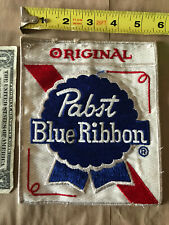 vintage Original Pabst Blue Ribbon Embroidered Advertising Patch