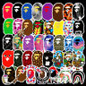 50Pcs BAPE Skateboard Stickers Bomb Luggage Car Laptop Decals Pack Lot Cool Tide