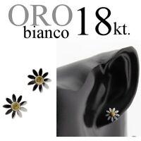 paio orecchini ORO BIANCO 18kt. fiore MARGHERITA white gold 18kt. flower daisy