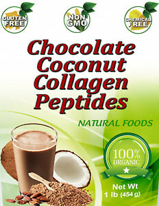 Collagen Peptides CHOCOLATE COCONUT Hydrolyzed Anti Aging Protein Powder