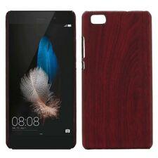 Hardcase Holz-Optik Dunkel Hülle für Huawei Ascend P8 Lite Case Cover Tasche Neu