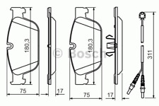 Brake Pad Set Disc Brake-Bosch 0 986 494 526