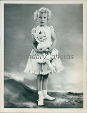 1955 Princess Anne Poses in New Dress Original News Service Photo