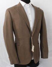 NWT BRUNELLO CUCINELLI Jacket Blazer Brown & Beige Houndstooth Cashmere Size 50
