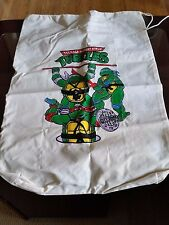 Teenage Mutant Ninja Turtles TMNT Vehicle - Canvas Drawstring Bag - Vintage 1990