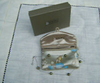 Vintage HONORA Cultured Freshwater Green Floating pearls necklace Italy Boxed