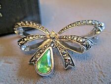 VINTAGE AVON*AUGUST*BIRTHSTONE BOW PIN/BROOCH FAUX MARCASITE*NIB*1994*OLD STOCK*