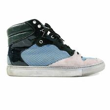 BALENCIAGA SNEAKERS - US 11 - 44 - BLUE GREEN SUEDE ARENA HIGH TOP LACE UP SHOES