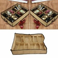 12 Pairs Shoe Organizer Storage Holder Container Home Under Bed Closet Box Bag