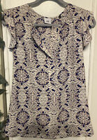 Cabi XS Flutter Sleeve top blouse career style # 3074