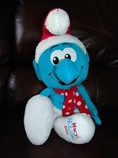 2010 Macy's Holiday Smurf Santa Claus Plush Doll 21""