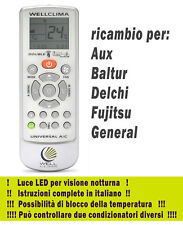 Telecomando condizionatore Aux Baltur Delchi Fujitsu General pompa di calore