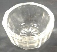 Salt Dip Crystal Clear Glass Decagon Shape 10 Panels Open Salt Cellar