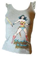 Canotta Canottiera Top Spalla Larga Rouches DC Comics 75 Donna FIXDESIGN Tg.  XS