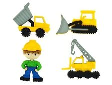 Work Zone Construction Machinery Buttons Jesse James Dress It Up Collection